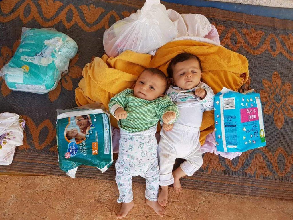 Deux bébés syrien